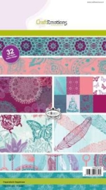 CE118040/0108- 32 vel Craft Emotions paper stack happiness A5