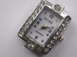 CH.019.1- horloge uurwerk met strass steentjes 19x29mm - SUPERLAGE PRIJS!