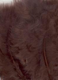 CE800804/2814- 15 stuks Marabou veren bruin van 7 tot 14cm