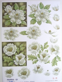 "kn/495- A4 knipvel ""parra"" no.01 bloemen"