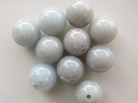 0001501- 10 stuks kunststof kralen gemarmerd van 11mm lichtgrijs OPRUIMING