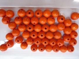 6011 041 - 50 stuks A-kwaliteit houten kralen van 10mm oranje