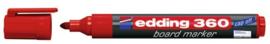 CE390360/0002- edding-360 boardmarker met punt van 1.5-3mm rood