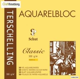 CE114985/3030- 20 vel Schut Terschelling aquarelbloc classic 300grams 30x30cm