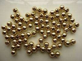 2178- ca. 75 stuks kunststof goudparels van 6mm - SUPERLAGE PRIJS!