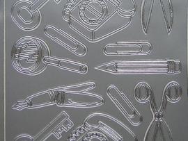 392- kantoorartikelen zilver 10x20cm