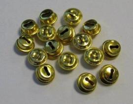 4311 - 16 stuks belletjes van 10 mm. goudkleur