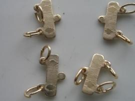 4 x verdelers van 1 naar 2 rijen goud 04-109