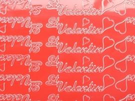 ST.1127- Valentijn rood 10x20cm