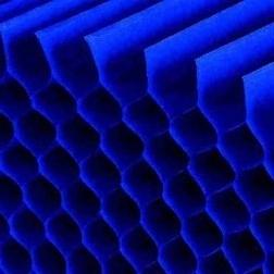 honingraat papier marineblauw 25x17cm