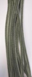 CE800700/7116- 20 stuks chenille draden van 30cm lang en 6mm dik grijs