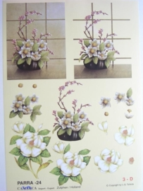 "kn/498- A4 knipvel ""parra"" no.24 bloemen"