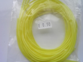 201 - Scoubidou touwtjes 6 stuks donkergeel