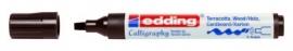 CE391455/0018- Edding-1455 kalligrafie marker flexibel punt 1-5mm donkerbruin
