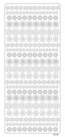 st960- stickervel met kleine bloemetjes zilver 10x23cm  -  121001/1520