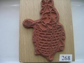 268 - opruiming stempel 7.5 x 10 cm