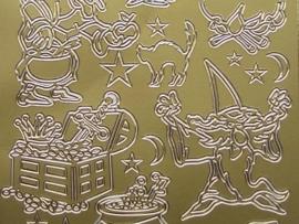 st 388- tovenaars goud 10x20cm