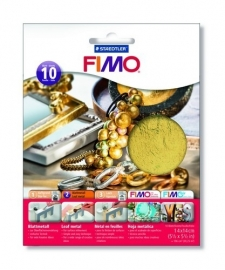 CE610308/8111- Fimo bladgoud - 10 vellen