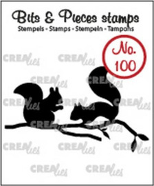 CE130505/1100- Crealies clearstamp nr.100 eekhoorns 31x52mm