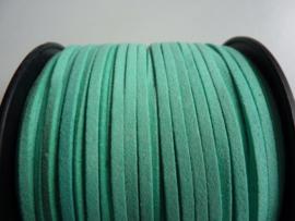 3 meter imitatie suede veter van 3mm breed groenig turquoise / mint