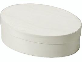 KN8735 596- 10 stuks spaan doos ovaal 9x12cm
