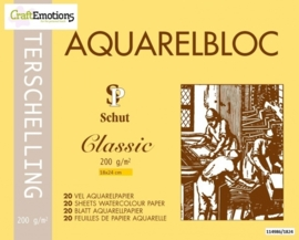 CE114986/1824- 20 vel Schut Terschelling aquarelbloc classic 200grams 18x24cm