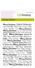 CE130501/1052- Craft Emotions clearstamps A6 achtergrond tekst kerst purple holiday
