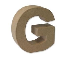 1929 3107- stevige decoratie letter van papier mache - 3D letter G