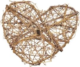 KN216816193- 4 x druivenrank krans hart van 30cm doorsnee