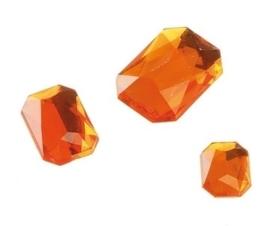2282 424- 80 x kunststof strass stenen assortiment rechthoeken van 8/10/13mm oranje
