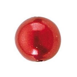 25 x ronde waxparels in een doosje 8mm rood - 6069 150