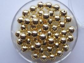6066 763- 50 stuks waxparels van 5mm goud in een doosje - zeer mooie kwaliteit