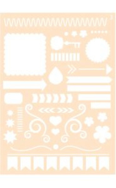 6002/0859 - Joy! crafts embossing achtergrondstencil poly-besa - A6 no.3