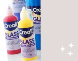 CE301800/0572- Creall Glass - glasstickerverf - window color - 80ML glitterzilver