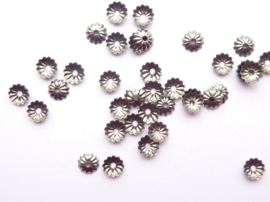 5mm kralenkapjes 20 stuks antraciet - SUPERLAGE PRIJS!- CH.113