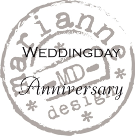 CE180016/0886- Marianne Design clearstamp weddingday - CS0886
