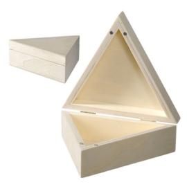 KN8735 689- 6 stuks houten kistjes driehoek 14x14x5cm