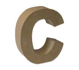 1929 3103- stevige decoratie letter van papier mache - 3D letter C