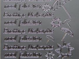 st 383- prettige vakantie zilver 10x20cm