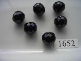 6 stuks ovaal 13x14mm 1652
