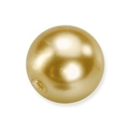 25 x ronde glasparels in een doosje 8mm goud - 2219 774