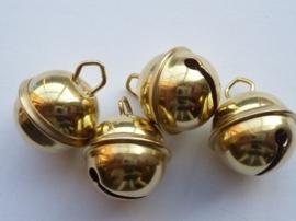 86050750- 4 stuks kattenbelletjes 24mm goudkleur - hard rinkel geluid. AA