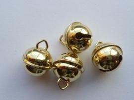 86050700- 4 stuks kattenbelletjes 19mm goudkleur - hard rinkel geluid AA