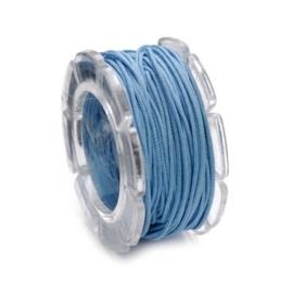 002290/0354- 10 meter waxcord met nylonkern blauw 0.6mm dik