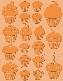"115639/9005- Craft Concepts embossing stencil ""cupcakes"" 11x14.5cm"