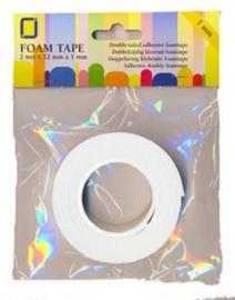 0.5mm dik - Joy Crafts foam tape rol 0.5 mm (ultra dun) - 2 meter rol - CE119491/3005