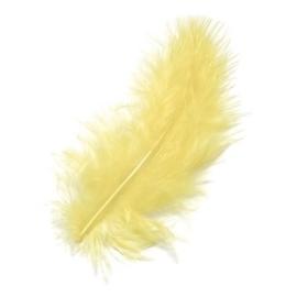 006619/0045- 15 stuks maraboe veren lichtgeel van 10cm