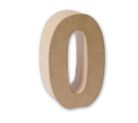 cijfers 3D van papier mache