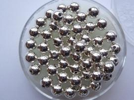 35 x ronde waxparels in een doosje 6mm zilver - 6067 700