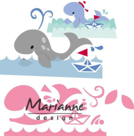 CE115638/1430- Marianne Design collectables Eline's walvis 14.5x20.5cm